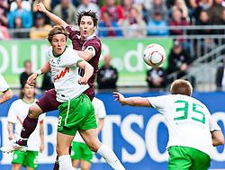 14.05.2011, Fritz-Walter Stadion, Kaiserslautern, GER, 1. FBL, 1.FC Kaiserslautern vs Werder Bremen, im Bild vl. Clemens Fritz (Bremen #8), Srdjan LAKIC (Kaiserslauern #9 CRO), Florian Trinks (Bremen #35), EXPA Pictures © 2011, PhotoCredit: EXPA/ nph/  Roth       ****** out of GER / SWE / CRO  / BEL ******