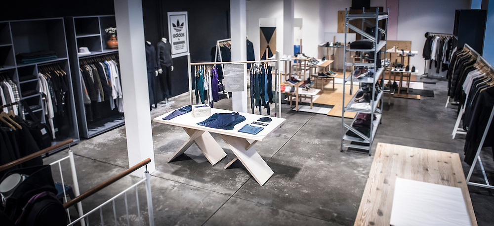 An internal photograph of Wood Wood in Copenhagen, highlighting the new Nike Autumn range.