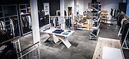 An internal photograph of Wood Wood in Copenhagen, highlighting the new Nike Autumn range.