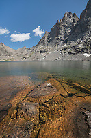 Mount  Bonneville and Bonneville Lake. Bridger Wilderness, Wind River Range Wyoming