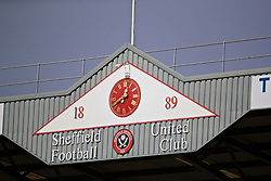 SHEFFIELD, ENGLAND - Thursday, September 26, 2019: A clock above a stand during the FA Premier League match between Sheffield United FC and Liverpool FC at Bramall Lane. (Pic by David Rawcliffe/Propaganda)