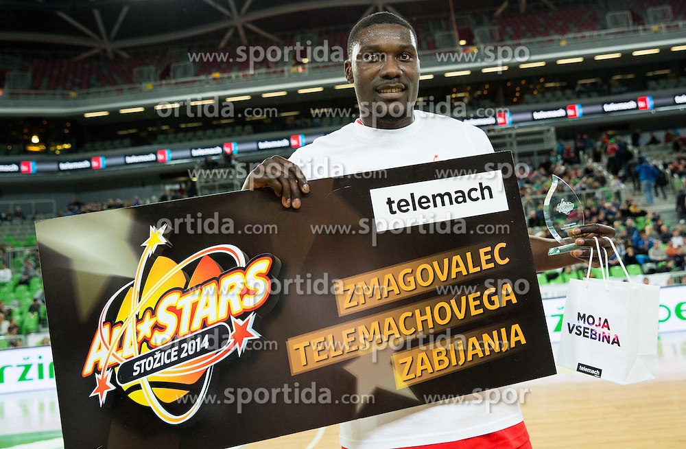 Kyle David Casey during basketball match between Best Players of League Telemach at All-Stars Stozice 2014, on December 28, 2014 in Arena Stozice, Ljubljana, Slovenia. Photo by Vid Ponikvar / Sportida