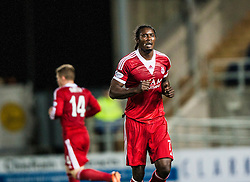 Aberdeen's Calvin Zola.<br /> Falkirk 0 v 5 Aberdeen, the third round of the Scottish League Cup.<br /> &copy;Michael Schofield.