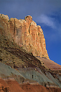 Sunset light on cliffs of Capitol Reef, Capitol Reef National Park, UTAH