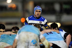 Leroy Houston of Bath Rugby looks on at a scrum - Photo mandatory by-line: Patrick Khachfe/JMP - Mobile: 07966 386802 15/11/2014 - SPORT - RUGBY UNION - Bath - Recreation Ground - Bath Rugby v Newcastle Falcons - Aviva Premiership