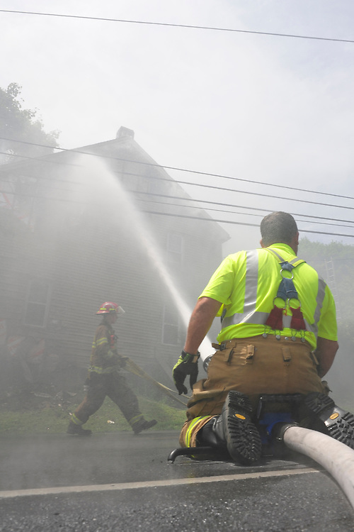 6/20/2014 Northampton, PA. Fire crews were called to the 6800 block of East Bullhead road in East Allen Township for a reported house fire. Express-Times Photo   CHRIS POST