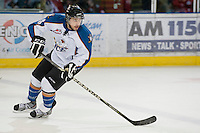 KELOWNA, CANADA, NOVEMBER 25: Dylen McKinlay #8 of the Kootenay Ice skates on the ice as the Kootenay Ice visit the Kelowna Rockets  on November 25, 2011 at Prospera Place in Kelowna, British Columbia, Canada (Photo by Marissa Baecker/Shoot the Breeze) *** Local Caption *** Dylen McKinlay;