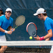 August 21, 2016, New Haven, Connecticut: <br /> Ryan Brown and Joseph Rotheram in action during a US Open National Playoffs match at the 2016 Connecticut Open at the Yale University Tennis Center on Sunday, August  21, 2016 in New Haven, Connecticut. <br /> (Photo by Billie Weiss/Connecticut Open)