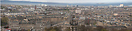 Panoramic view of Edinburgh, Scotland. Please note this is a composite panoramic shot