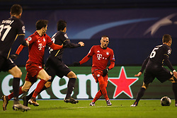 Franck Ribery #7 of FC Bayern Munchen, Robert Lewandowski #9 of FC Bayern Munchen during football match between GNK Dinamo Zagreb and Bayern München in Group F of Group Stage of UEFA Champions League 2015/16, on December 9, 2015 in Stadium Maksimir, Zagreb, Croatia. Photo by Ziga Zupan / Sportida