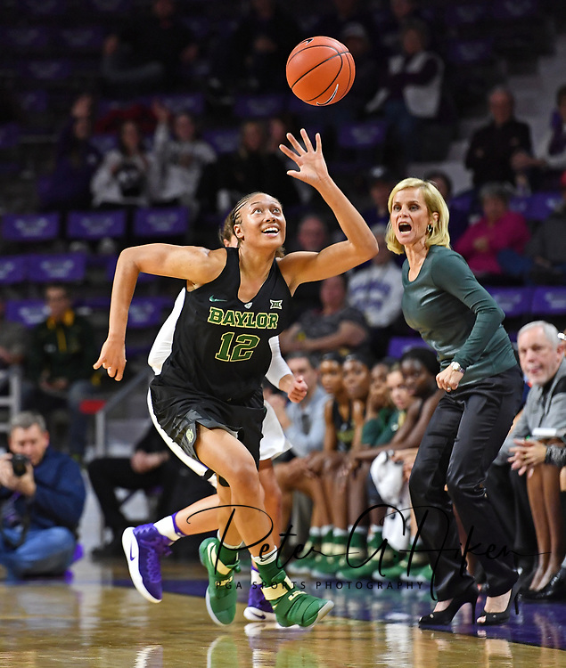 Guard Alexis Prince #12 of the Baylor Bears runs down a loose ball against the Kansas State Wildcats during the first half at Bramlage Coliseum in Manhattan, Kansas.