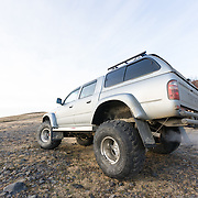 Modified Toyota Hilux super jeep, Fljótshlíð.