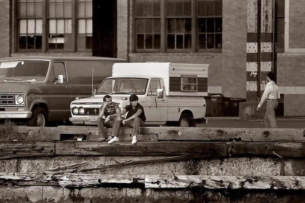 West Street hustlers, lower Manhattan, 1978.