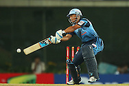 Titans captain Henry Davids reaches for a wide delivery during match 3 of the Karbonn Smart Champions League T20 (CLT20) 2013  between The Chennai Superkings and the Titans held at the JSCA International Cricket Stadium, Ranchi on the 22nd September 2013<br /> <br /> Photo by Ron Gaunt-CLT20-SPORTZPICS  <br /> <br /> Use of this image is subject to the terms and conditions as outlined by the CLT20. These terms can be found by following this link:<br /> <br /> http://sportzpics.photoshelter.com/image/I0000NmDchxxGVv4