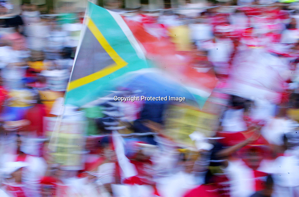 CAPE TOWN, SOUTH AFRICA - 31 January 2009, Fans celebrate during the Absa Premiership match between Ajax Cape Town and Kaizer Chiefs held at Athlone Stadium in Cape Town, South Africa.<br />