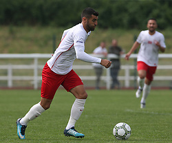 May 31, 2018 - London, United Kingdom - Tansel Taner of Northern Cyprus .during Conifa Paddy Power World Football Cup 2018  Group B match between Northern Cyprus against Karpatalya at Queen Elizabeth II Stadium (Enfield Town FC), London, on 31 May 2018  (Credit Image: © Kieran Galvin/NurPhoto via ZUMA Press)