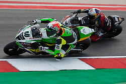 July 8, 2018 - Misano, RN, Italy - Roman Ramos of Team Kawasaki Go Eleven overtake Toprak Razgatlioglu of Kawasaki Pucetti Racing during race 2 of the Motul FIM Superbike Championship, Riviera di Rimini Round, at Misano World Circuit ''Marco Simoncelli'', on July 08, 2018 in Misano, Italy  (Credit Image: © Danilo Di Giovanni/NurPhoto via ZUMA Press)