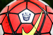 The Nike U21 Ordem ball lies ready ahead of the Final Thirds Development League match between U21 Crystal Palace and U21 Watford at Selhurst Park, London, England on 24 August 2015. Photo by Michael Hulf.