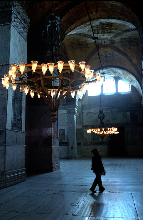 "Inside ""St. Sophia"" church in Sultanahmet which is one of the main tourist attractions of the city..ISTANBUL, Androniki Christodoulou/WorldPictureNews"