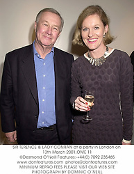 SIR TERENCE & LADY CONRAN at a party in London on 13th March 2001.			OME 11