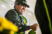 Scott Sharp, ESM racing champagne celebration after winning the GT class at Petit Le Mans. Oct 18-20, 2012. © Jamey Price