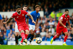 Ever Banega of Sevilla scores from the penalty spot  - Mandatory by-line: Matt McNulty/JMP - 06/08/2017 - FOOTBALL - Goodison Park - Liverpool, England - Everton v Sevilla - Pre-season friendly