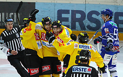 21.11.2010, Albert Schultz Halle, Wien, AUT, EBEL, Vienna Capitals vs KHL Medvescak Zagreb, im Bild Torjubel der Capitals,  EXPA Pictures © 2010, PhotoCredit: EXPA/ T. Haumer