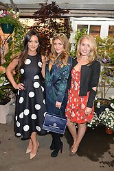 Left to right, ROXIE NAFOUSI, LAUREN HUTTON and CAGGIE DUNLOP at a party to celebrate the launch of the Taylor Morris Eyewear's Summer Collection held at The Chelsea Gardner, 125 Sydney Street, London on 20th May 2015.
