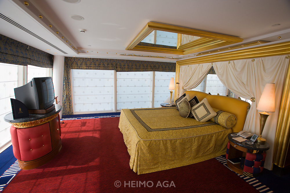 Jumeirah, Burj Al Arab, the World's most luxurious hotel. A Duplex Suite. Bedroom.
