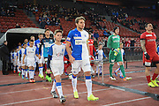 04.02.2017; Zuerich; FUSSBALL SUPER LEAGUE - GC - THUN;<br /> Lineup Kids, Einlauf-Kinder, Axpo, <br /> (Andy Mueller/freshfocus)