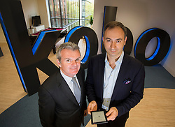 Repro Free: 30 October 2013 <br /> Michael Serbins, CEO, Kobo is pictured with Conor Whelan, Managing Director Eason &amp; Son at the opening of the Kobo European Software Development Centre in Dublin where they also announced their partnership with leading bookseller Eason to bring its world-class digital platform to Ireland. Picture Andres Poveda