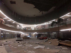 September 8, 2017  Tuxtla Gutierrez, Chiapas, Mexico - Debris and damages in a mall after an earthquake jolted Tuxtla Gutierrez. A powerful earthquake measuring 8.0 on the Richter scale struck off Mexico's southern coast on late Thursday, according to the United States Geological Survey (USGS). (Credit Image: © Str/Xinhua via ZUMA Wire)