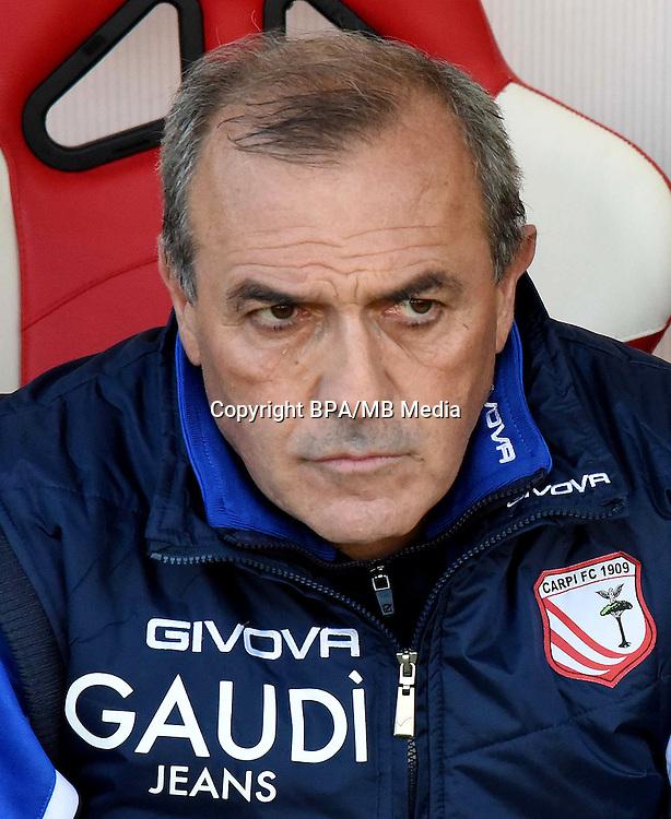Italian League Serie B -2016-2017 / <br /> ( Carpi FC 1909 ) - <br /> Fabrizio Castori - DT Carpi FC 1909