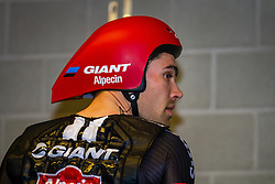 DUMOULIN Tom from the Netherlands of Team Giant - Alpecin (GER) before the start at velodrome Omnisport, stage 1 (ITT) from Apeldoorn to Apeldoorn running 9,8 km of the 99th Giro d'Italia (UCI WorldTour), The Netherlands, 6 May 2016. Photo by Pim Nijland / PelotonPhotos.com | All photos usage must carry mandatory copyright credit ( Peloton Photos | Pim Nijland)