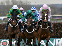 National Hunt Horse Racing - 2019 Randox Health Grand National Festival - Friday, Day Two (Ladies Day)<br /> <br /> <br /> W P Mullins rides to victory on Min,<br /> in the 14.25 JLT Chase (Registered As The Melling Chase) (Grade 1) (Class 1) at Aintree Racecourse.<br /> <br /> COLORSPORT/WINSTON BYNORTH