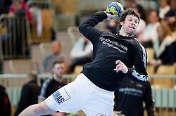 Momir Rnic of Goeppingen at warming up prior to the handball match between RK Cimos Koper and Frisch Auf Goeppingen (GER) in 3rd Round of EHF Cup 2012/2013, on February 23, 2013 in Arena Bonifika, Koper, Slovenia. (Photo By Vid Ponikvar / Sportida)