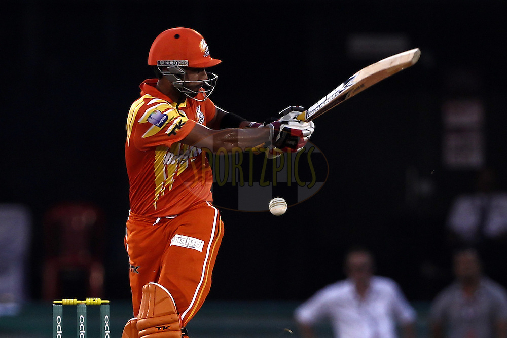 Saad Naseem of the LAHORE LIONS during the qualifier 5 match of the Oppo Champions League Twenty20 between the Southern Express and the Lahore Lions held at the Chhattisgarh International Cricket Stadium, Raipur, India on the 16th September 2014<br /> <br /> Photo by:  Deepak Malik / Sportzpics/ CLT20<br /> <br /> <br /> Image use is subject to the terms and conditions as laid out by the BCCI/ CLT20.  The terms and conditions can be downloaded here:<br /> <br /> http://sportzpics.photoshelter.com/gallery/CLT20-Image-Terms-and-Conditions-2014/G0000IfNJn535VPU/C0000QhhKadWcjYs