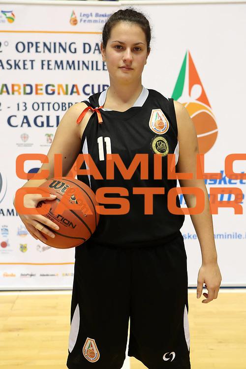 DESCRIZIONE : Cagliari Lega A1 Femminile 2013-14 Opening Day 2013 CUS Chieti<br /> GIOCATORE : Francesca Gallorini<br /> SQUADRA : CUS Chieti<br /> EVENTO : Campionato Lega A1 Femminile 2013-2014 <br /> GARA : <br /> DATA : 13/10/2013<br /> CATEGORIA : ritratto<br /> SPORT : Pallacanestro <br /> AUTORE : Agenzia Ciamillo-Castoria/ElioCastoria<br /> Galleria : Lega Basket Femminile 2013-2014 <br /> Fotonotizia : Cagliari Lega A1 Femminile 2012-13 Opening Day 2013 CUS Chieti<br /> Predefinita :