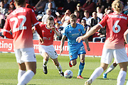Alex Doyle and Gavin Reilly  during the EFL Sky Bet League 2 match between Salford City and Cheltenham Town at Moor Lane, Salford, United Kingdom on 14 September 2019.