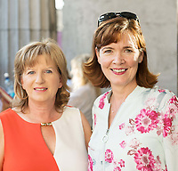 18/07/2018 repro free: Tina McDermott and Caroline Miney Ulster Bank   at the world premiere of Incantata by Paul Muldoon starring Stanley Townsend and directed by Sam Yates. Incantata is a Galway International Arts Festival and Jen Coppinger production and is now on at the Town Hall Theatre, Galway until Friday July 27as part of GIAF18. Incantata is a deeply moving rollercoaster ride of a show starring one of Ireland's leading actors.  Photo:Andrew Downes, XPOSURE