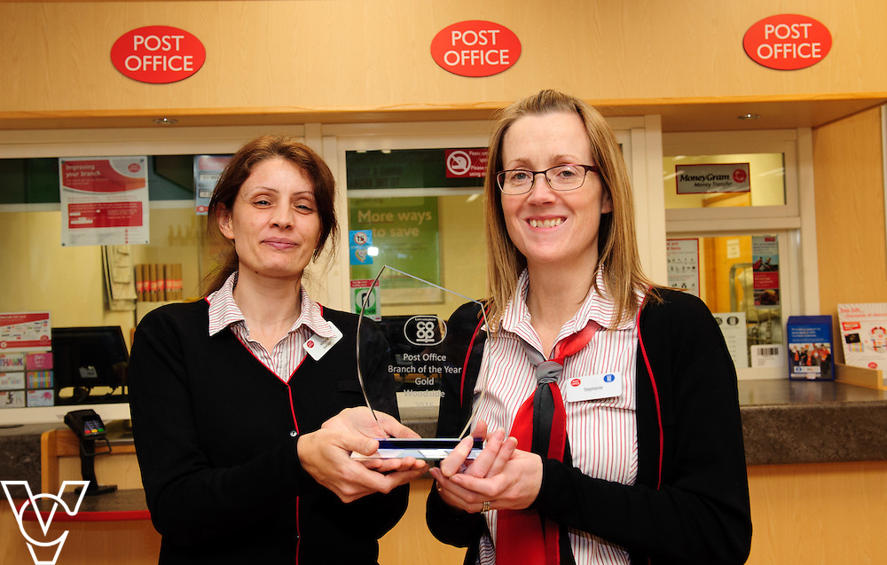 Pictured is, from left, Lincolnshire Co-operative Sleaford Post Office staff Michelle Young and Stephanie Lewis.  The staff at the Lincolnshire Co-op's Sleaford Post Office were awarded gold at the Lincolnshire Co-op's staff awards.<br /> <br /> Picture: Chris Vaughan/Chris Vaughan Photography<br /> Date: February 8, 2016