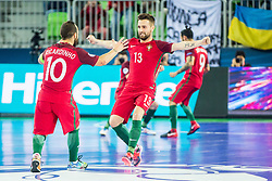 Tiago Brito of Portugal during futsal match between Spain and Portugal in Final match of UEFA Futsal EURO 2018, on February 10, 2018 in Arena Stozice, Ljubljana, Slovenia. Photo by Ziga Zupan / Sportida
