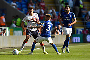 Dael Fry (6) of Middlesbrough battles for possession with Joe Bennett (3) of Cardiff City during the EFL Sky Bet Championship match between Cardiff City and Middlesbrough at the Cardiff City Stadium, Cardiff, Wales on 21 September 2019.