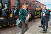 Paul Heckingbottom, the Hibs manager arrives at Ibrox Stadium, Glasgow, Scotland, ahead of the Ladbrokes Scottish Premiership match between Rangers FC and Hibernian FC at  on 5 May 2019.