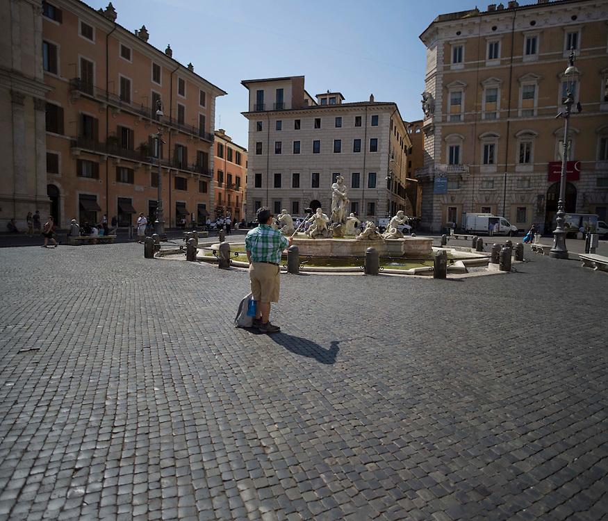 Fontana del Moro di Bernini a Roma,<br /> <br /> Moor Fountain by bernini Roma