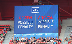 VAR check of possible penalty during the FIFA Women's World Cup, round of Sixteen match at State du Hainaut, Valenciennes.