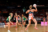 SYDNEY, AUSTRALIA - AUGUST 24: Kim Green of the Giants contest for the ball during the round 14 Super Netball match between the Giants and the West Coast Fever at Qudos Bank Arena on August 24, 2019 in Sydney, Australia.(Photo by Speed Media/Icon Sportswire)