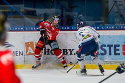 01.01.2018, Ice Rink, Znojmo, CZE, EBEL, HC Orli Znojmo vs Fehervar AV 19, 35. Runde, im Bild v.l. Tomas Plihal (HC Orli Znojmo) Bence Stipsicz (Fehervar AV19) // during the Erste Bank Icehockey League 35th round match between HC Orli Znojmo and Fehervar AV 19 at the Ice Rink in Znojmo, Czech Republic on 2018/01/01. EXPA Pictures © 2018, PhotoCredit: EXPA/ Rostislav Pfeffer