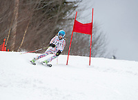 Piche Invitational giant slalom at Gunstock.  U14 ladies 2nd run.  ©2014 Karen Bobotas Photographer