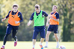 Falkirk's Rory Loy. Falkirk FC training at Swansea's training pitches, before next weeks Cup Final.